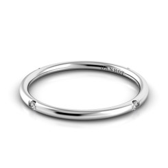 Danhov Classico Polished Round Diamond Band CB104