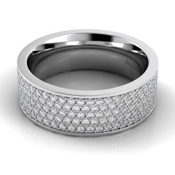 Danhov Classico Polished Flat Diamond Band CB106-A