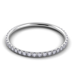 Danhov Classico Polished Round Diamond Band CB112-Q