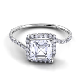 Danhov Abbraccio Asscher Halo Engagement Ring AE100-AS