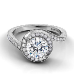 Danhov Abbraccio Round Halo Engagement Ring AE102