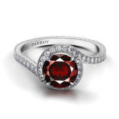 Danhov Abbraccio Round Halo Engagement Ring AE103