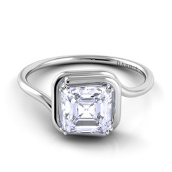 Danhov Abbraccio Asscher Solitaire Swirl Engagement Ring AE133-AS