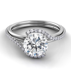 Danhov Abbraccio Round Halo Engagement Ring AE155