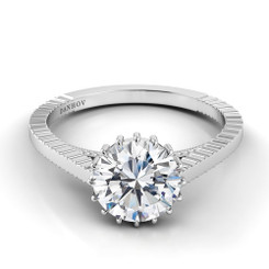 Danhov Carezza Round Solitaire Single Shank Engagement Ring XE112