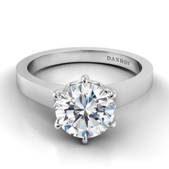 Danhov Classico Round Solitaire Single Shank Engagement Ring CL103