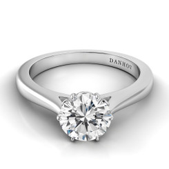 Danhov Classico Round Solitaire Engagement Ring CL105