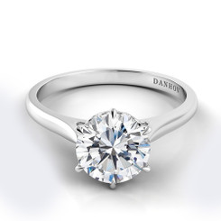 Danhov Classico Round Solitaire Single Shank Engagement Ring CL114