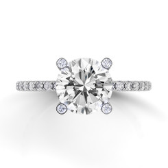 Danhov Classico Round Solitaire Single Shank Engagement Ring CL120