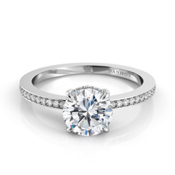 Danhov Classico Round Solitaire Single Shank Engagement Ring CL121