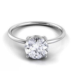 Danhov Classico Round Solitaire Single Shank Engagement Ring CL130