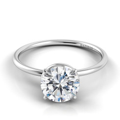Danhov Classico Round Solitaire Single Shank Engagement Ring CL131
