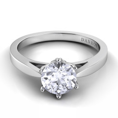 Danhov Classico Round Solitaire Single Shank Engagement Ring CL133