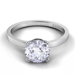 Danhov Classico Round Solitaire Engagement Ring CL134
