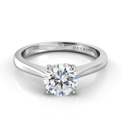 Danhov Classico Round Solitaire Single Shank Engagement Ring CL136