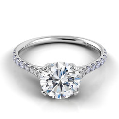 Danhov Classico Round Solitaire Single Shank Engagement Ring CL138