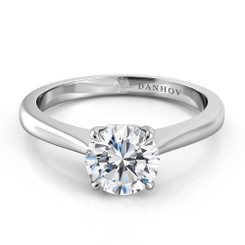 Danhov Classico Round Solitaire Single Shank Engagement Ring CL139