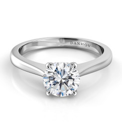 Danhov Classico Round Solitaire Single Shank Engagement Ring CL142