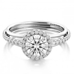 Danhov Classico Round Halo Single Shank Engagement Ring WE510Q