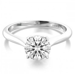 Danhov Classico Round Solitaire Single Shank Engagement Ring WE518P