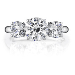 Danhov Classico 3 Stone Three Stone Single Shank Engagement Ring DT107