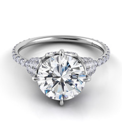 Danhov Couture Round Solitaire Engagement Ring CE153