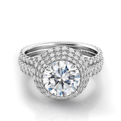 Danhov Couture Round Halo Engagement Ring CE160