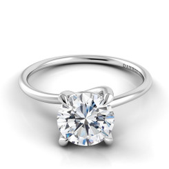 Danhov Eleganza Round Solitaire Single Shank Engagement Ring ZE103