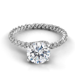Danhov Eleganza Round Solitaire Braided Engagement Ring ZE105