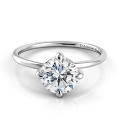 Danhov Eleganza Round Solitaire Single Shank Engagement Ring ZE139