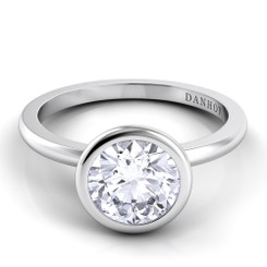 Danhov Per Lei Round Solitaire Single Shank Engagement Ring LE100