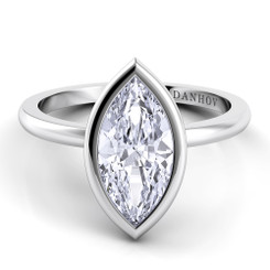 Danhov Per Lei Maequis Solitaire Single Shank Engagement Ring LE100-MQ