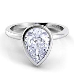 Danhov Per Lei Pear Shape Solitaire Single Shank Engagement Ring LE100-PS