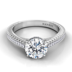Danhov Tubetto Round Solitaire Engagement Ring TE130