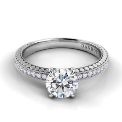 Danhov Tubetto Round Solitaire Engagement Ring TE131