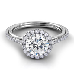 Danhov Unito Round Halo Engagement Ring UE102