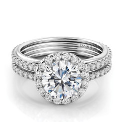 Danhov Unito Round Halo Engagement Ring UE103