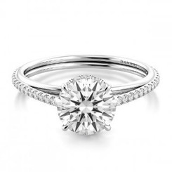 Danhov Unito Round Solitaire Single Shank Engagement Ring UE511Q