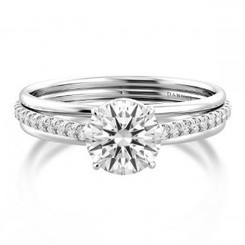 Danhov Unito Round Halo Triple Shank Engagement Ring UE513Q
