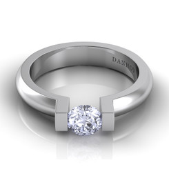 Danhov Voltaggio Round Tension Set Single Shank Engagement Ring V113