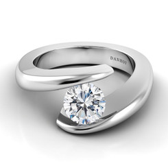 Danhov Voltaggio Round Tension Set Engagement Ring V119