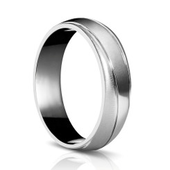Sholdt Mobius Twist Men's Wedding Band B426 Lined