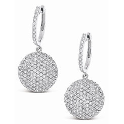 KC Designs Diamond Disc Earrings with 238 Diamonds weighing 1.26 Carats E7636