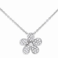 KC Designs Diamond Small Floral Necklace with 46 Diamonds weighing .20 Carats N3628