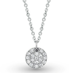 KC Designs Diamond Small Disc Necklace with 18 Diamonds weighing .22 Carats N2975
