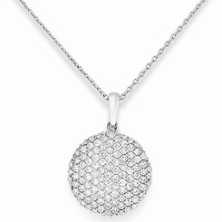 KC Designs Diamond Disc Necklace with 109 Diamonds weighing .52 Carats N6028