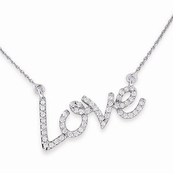 KC Designs Diamond Love Necklace with 50 Diamonds weighing .27 Carats N7621