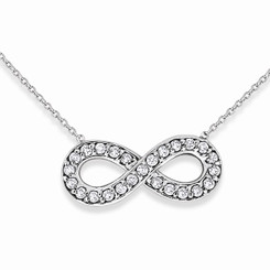 KC Designs Diamond Small Infinity Necklace with 25 Diamonds weighing .14 Carats N8179
