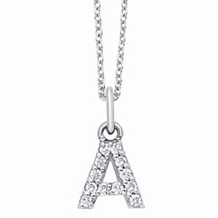 KC Designs Diamond Block Initial Necklace N3760