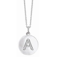 KC Designs Diamond Disc Initial Necklace N7444